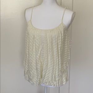 NWT Free People Flowy Ivory Tank Top Size Small